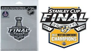 2017 STANLEY CUP FINAL PATCH & NASHVILLE PREDATORS STICKER SET OF TWO (2) NHL