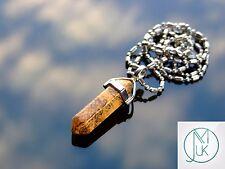 PICTURE Jasper Crystal Point Ciondolo Collana Pietra preziosa Naturale Pietra di Guarigione