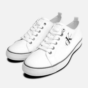 calvin klein white shoes