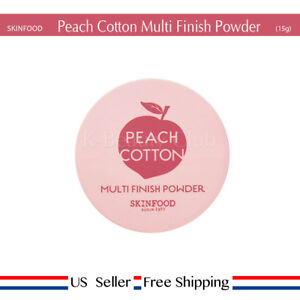 Skinfood-Peach-Cotton-Multi-Finish-Powder-15g-sebum-Free-Sample-US-Seller