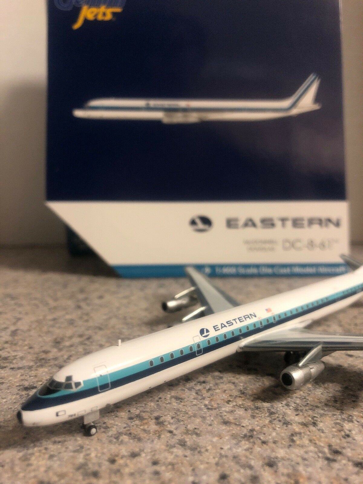 GJ 400 scale diecast model Eastern Airlines DC-8-61 Commercial Airliner N8764