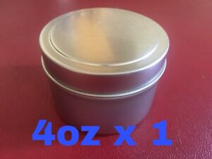 4oz-X-1-Deep-Metal-Round-Tins-Slip-Cover-Lid-Candles-Cosmetics-Survival-1-Pack