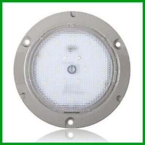 Interior-Dome-Light-24-LED-White-Surface-Mount-5-5-034-Round-Touch-Switch