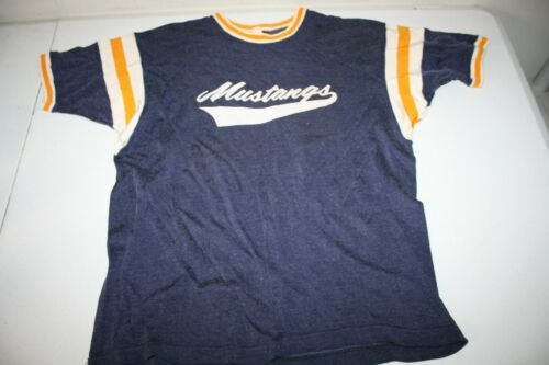 Vintage 60s T-Shirt Jersey Mustangs XL USA