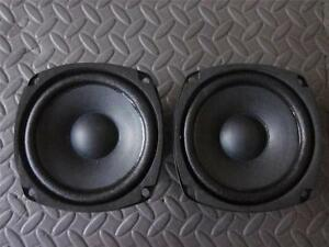 """NEW 4/"""" Woofer Speakers.8ohm.Pin cushion Monitor Replacement four inch PAIR. 2"""