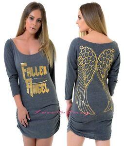 2162d1458bf Womens EX FAMOUS MAKE Fallen Angel Gold Wings Jersey Sexy Nightie ...