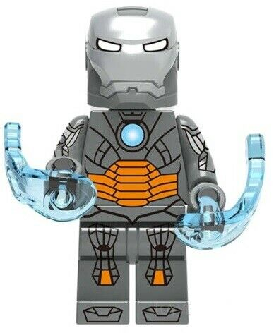 Iron Man Robert Downey MK12 Avengers Marvel Tony Stark Custom Lego Mini Figure