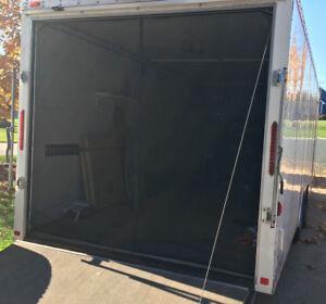 Sbs 94 0 X 77 0 Rear Screen Door For Toy Hauler Enclosed Trailer Rv W Bag Ebay