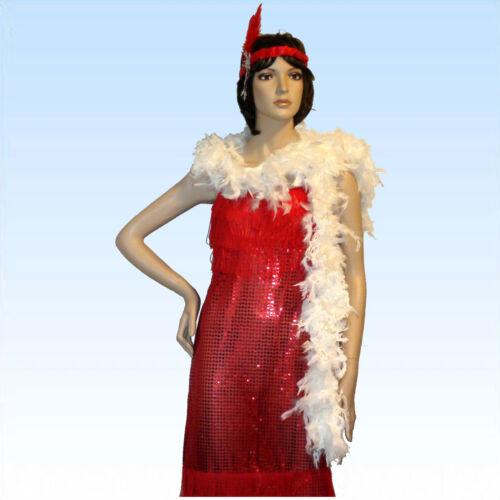 Charleston Kostüme Lange Federboa mit echten Federn schwarz oder weiß Boa f