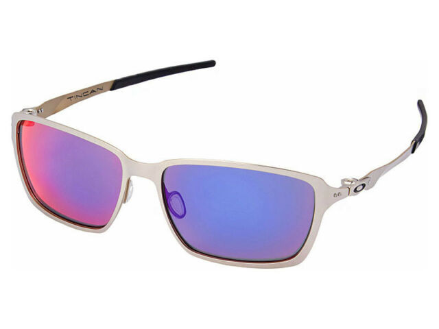 620af734b4 Oakley Tincan Polarized Sunglasses OO4082-08 Satin Chrome +Red Iridium