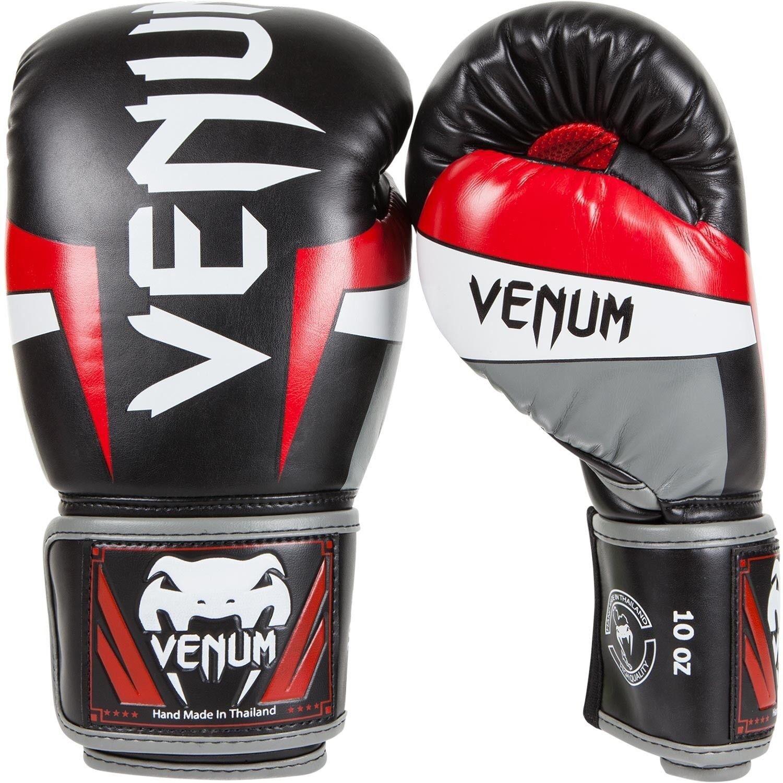 Venum Guantoni Elite Guantoni Venum da pugilato Nero Rosso Grigio MMA Sparring Muay Thai Guanti 10oz 984124