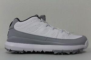 Nike Mens Air Jordan 9 IX Retro Size 8 Golf Shoes Barons White Grey ... 4a46fd95d