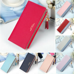 New-Women-Clutch-Leather-Wallet-Long-Card-Holder-Phone-Bag-Case-Purse-Handbag