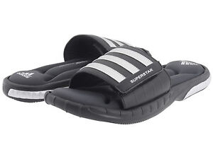 Adidas Superstar 3G Black Slides Athletic Sport Sandals G40165 Men's Sizes 7-11