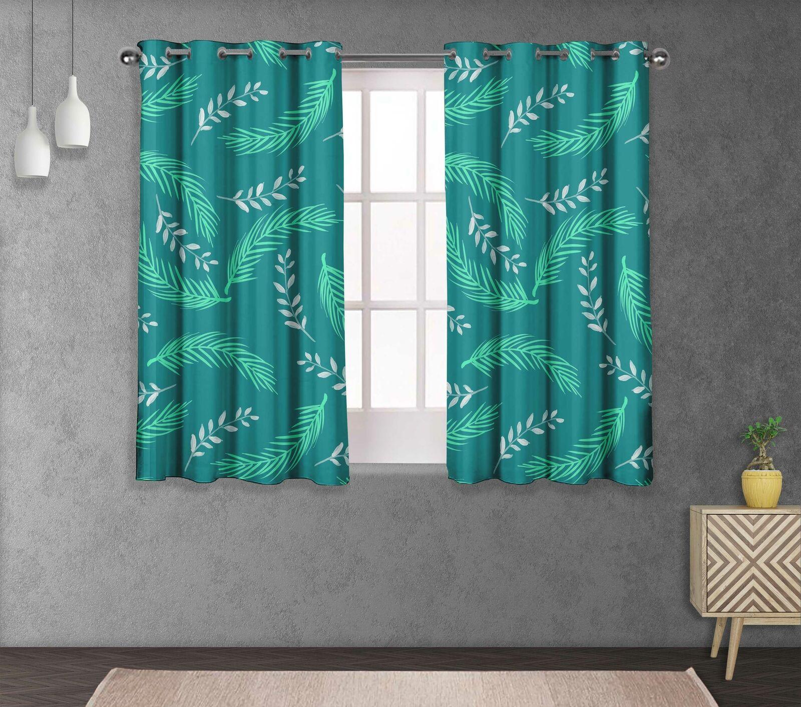 S 4 Sassy Palm Cama divisores de habitación Panel de cortina corta y larga-LF-553F