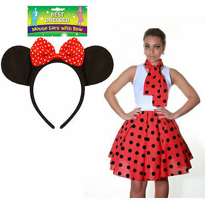 Womens Polka Dot Skirt 22 Inches Long Ladies Dance Wear Fancy Dress Party Skirt