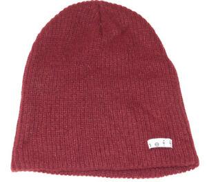 cfede36befef6 NEFF Beanie knit hat skull cap lid NEW One Size burgandy wine dark ...