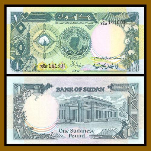 1987 P-39 Cotton Plant Unc Sudan 1 Pound