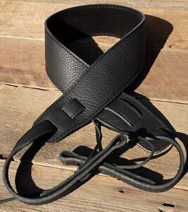 Genuine Black Leather Banjo / Dobro Strap