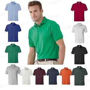 Hanes-Blended-Mens-Shirt-Polo-Golf-Jersey-Sport-T-shirt-S-6XL-Golf-Tee-054X-PI