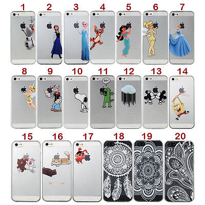 Cute Cartoon PC hard back Case Cover Skin For iPhone 4 4S 5 5S 6 6 plus