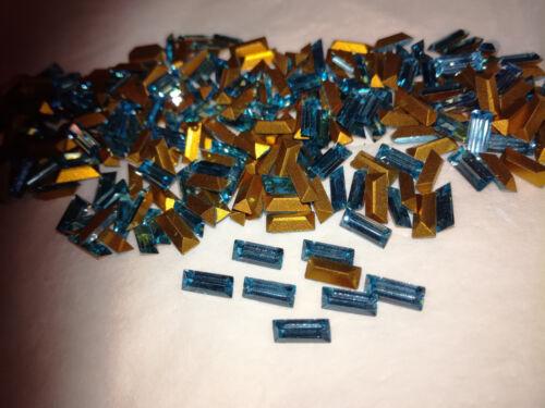 24-144 unid pedrería Machine cut bocadillos Aquamarine 7x3 mm foliert #813