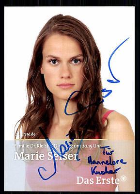100% QualitäT Marie Seiser Familie Dr. Kleist Autogrammkarte Original Signiert## Bc 5593 Hoher Standard In QualitäT Und Hygiene