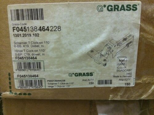 Lot of 4 hinges /& 4plates Grass-110 Degree Selfclose Inset Hinge /& Grass Plate