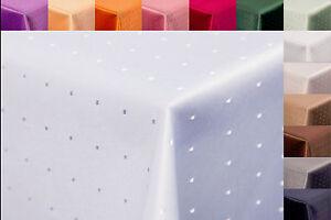 Damast Tischdecke Tafeldecke Im Punktedesign Größe Farbe Und Form