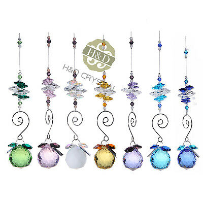 7X Handmade Feng Shui Suncatcher Crystal Prism Ball Hanging Window Rainbow Decor