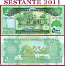 SOMALILAND 5000 5.000 SHILLINGS 2012 Particular number 44 54 64 - P 21 - FDS/UNC