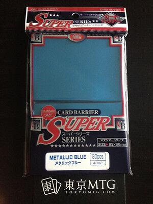 x1 pack Metallic Blue KMC Card-Barrier Super Series 80 ct sleeves mtg