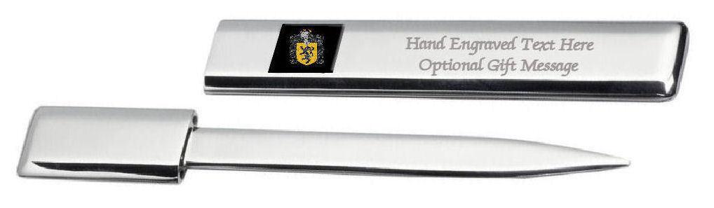 Jenkins Famille  Blason Heraldic Engraved Ouvre-Lettre