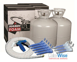 Details about Handi-Foam 1200 BF Closed Cell Spray Foam Insulation Kit (2  Kits - 1 Gun/Hose)