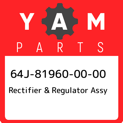 Yamaha 64J-81960-10-00 Rectifier /& Regulator Assembly; 64J819601000 Made by Yamaha