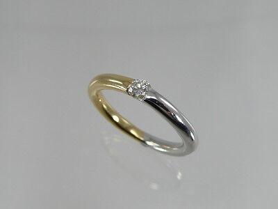 Ring Mit Ca. 0,20 Karat SolitÄr Brillant / 750 Gold / 18 Karat Angenehm Zu Schmecken