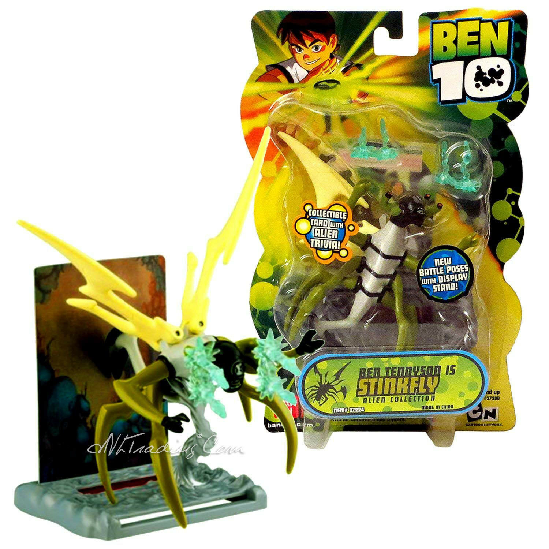 NEW Bandai 2007 Ben 10 Alien Series 4  Tall Ben Tennyson as Stinkfly Action Figu