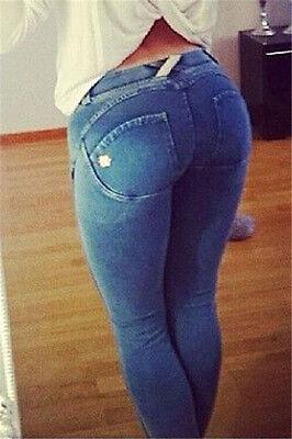 Shaping Effect Skinny Gray Denim Jersey Pants LC79598 women plus size leggings