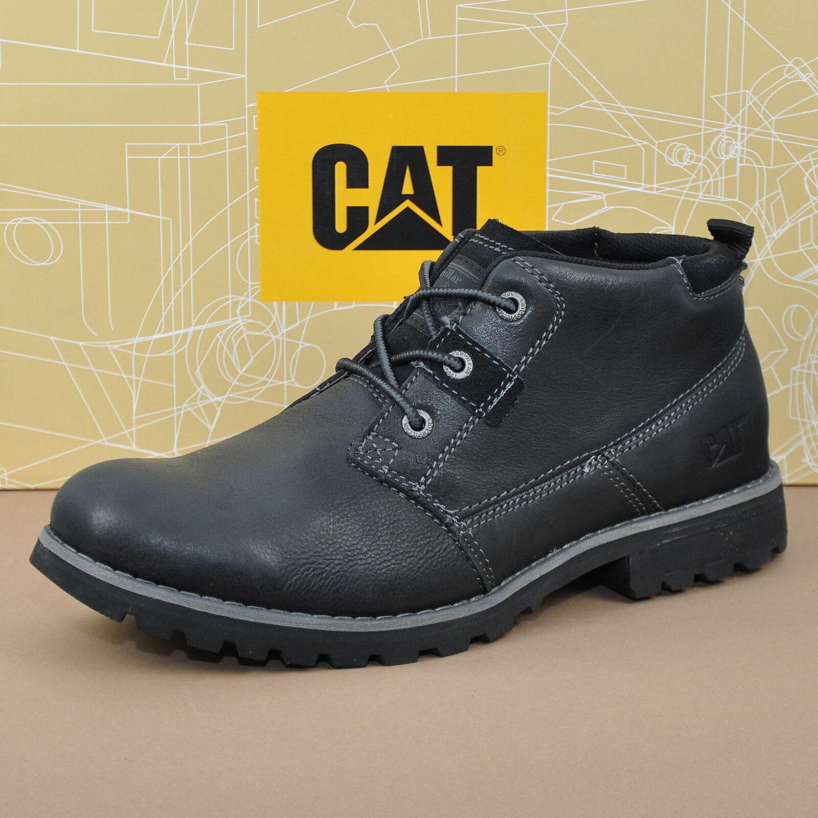 Caterpillar CAT Footwear Harold Herren Boots Leder Schuhe Stiefel Black P718500