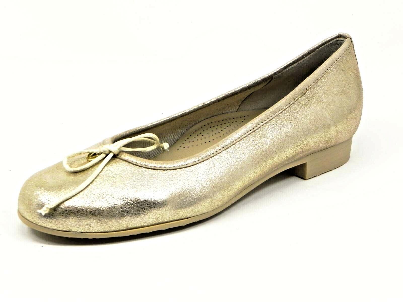 Vtuttieverde V11007 sautope donna btuttierina pelle laminata oro (85,00 -30%)  saldi