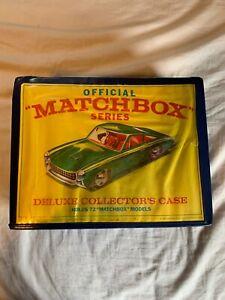 Vintage-1968-Estuche-de-Coleccionistas-de-coche-oficial-Matchbox-72-1100-valor-de-coches-dentro