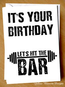 Funny birthday card gym weight lift fitness exercise workout image is loading funny birthday card gym weight lift fitness exercise m4hsunfo