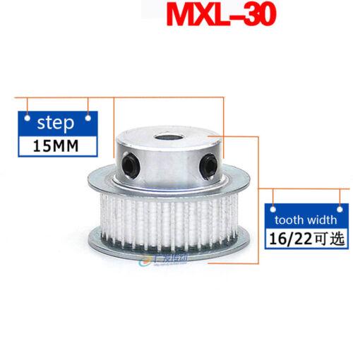 MXL30T Synchronous Wheel Timing Belt Pulley Pilot Bore For 6//10mm Width Belt