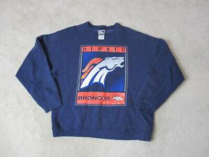 VINTAGE-Pro-Player-Denver-Broncos-Sweater-Adult-Large-Blue-Orange-Football-90s