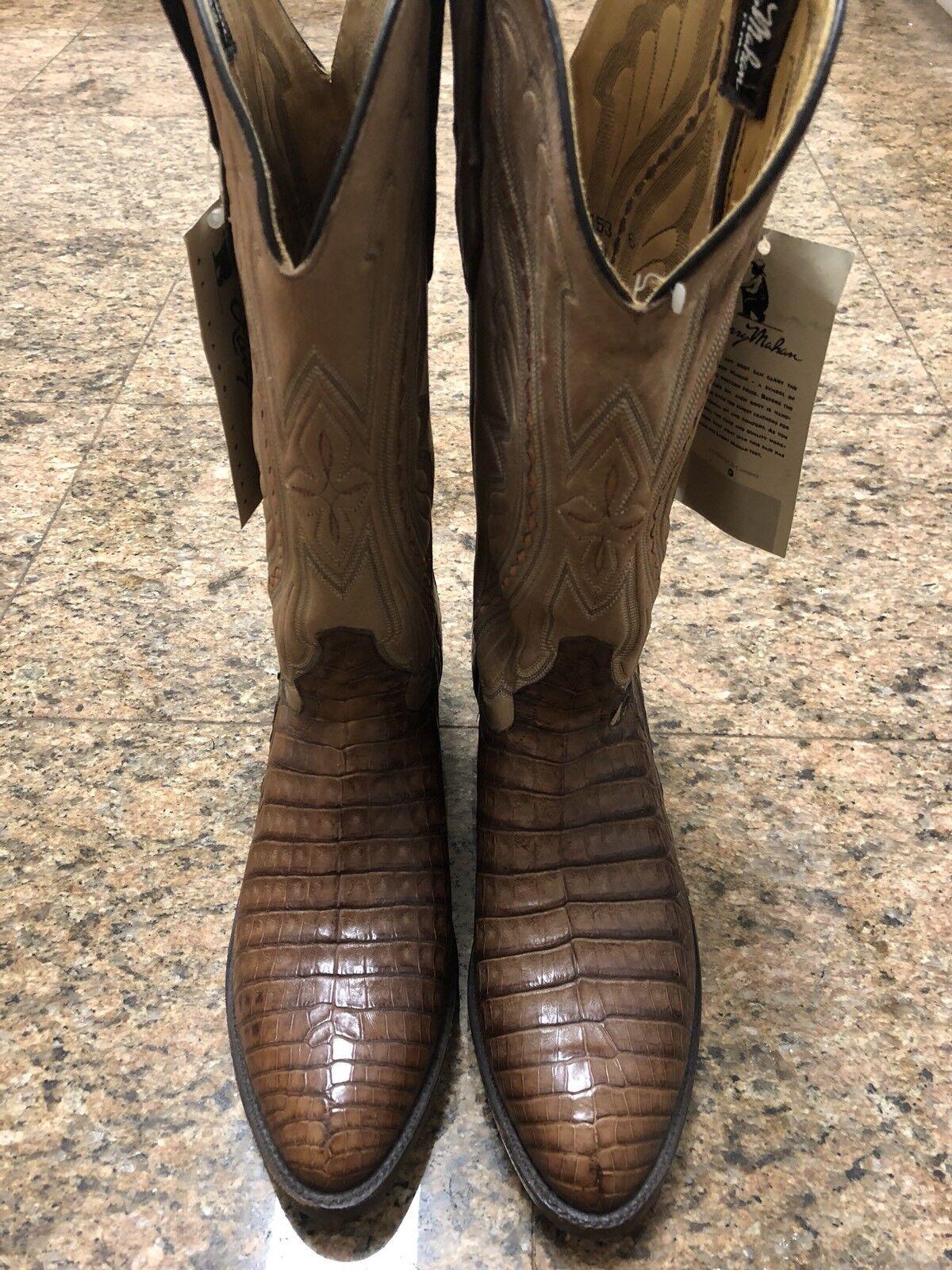 Larry Mahan Genuino Cocodrilo Occidentales botas Nuevo con etiquetas