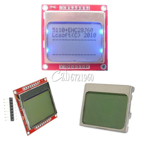 DIY White//Blue 84 48 Nokia 5110 LCD Display Screen Module Module for Arduino