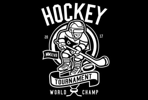 HOCKEY TOURNAMENT WORLD CHAMP T SHIRT BLACK mens S-3XL