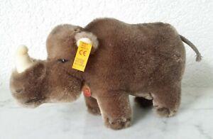 Steiff-Button-IN-Ear-040719-Rhinoceros-Rhino-Rino-Rhino-Rhinoceros-3-7-8in