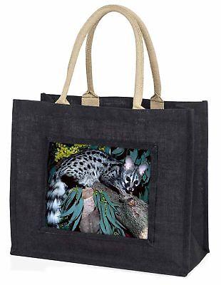 Wild Ginster Katze Tierwelt Aufdruck große schwarze Einkaufstasche WEIHNACHTEN