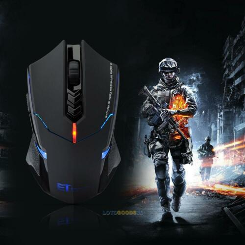 ET X-08 2000DPI Adjustable 2.4G Wireless Professional Gaming Mouse Mice LS4G